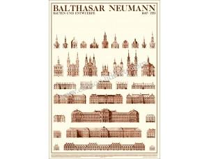 Balthasar Neumann, Bauten und Entwürfe