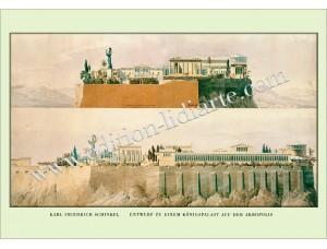 K.F.Schinkel, Entwurf zu einem Königspalast auf der Akropolis